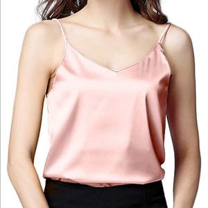 Tops - Pink Silk Camisole
